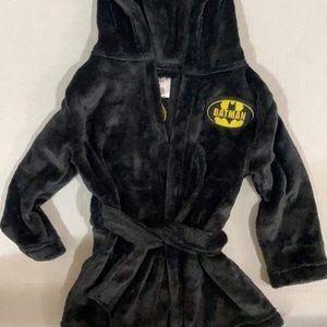 Toddler boys black Batman Robe
